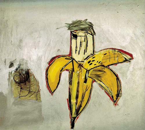 Jean Michel Basquiat - Portrait Of Warhol as Banana (1984)
