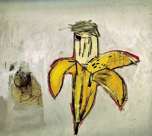 Jean Michel Basquiat - Portrait Of Warhol as Banana (1984)